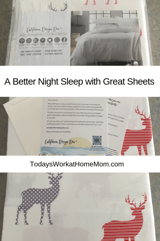 quality sheets to help you sleep better
