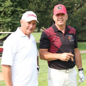 Brent Sutter and Ric Nattress