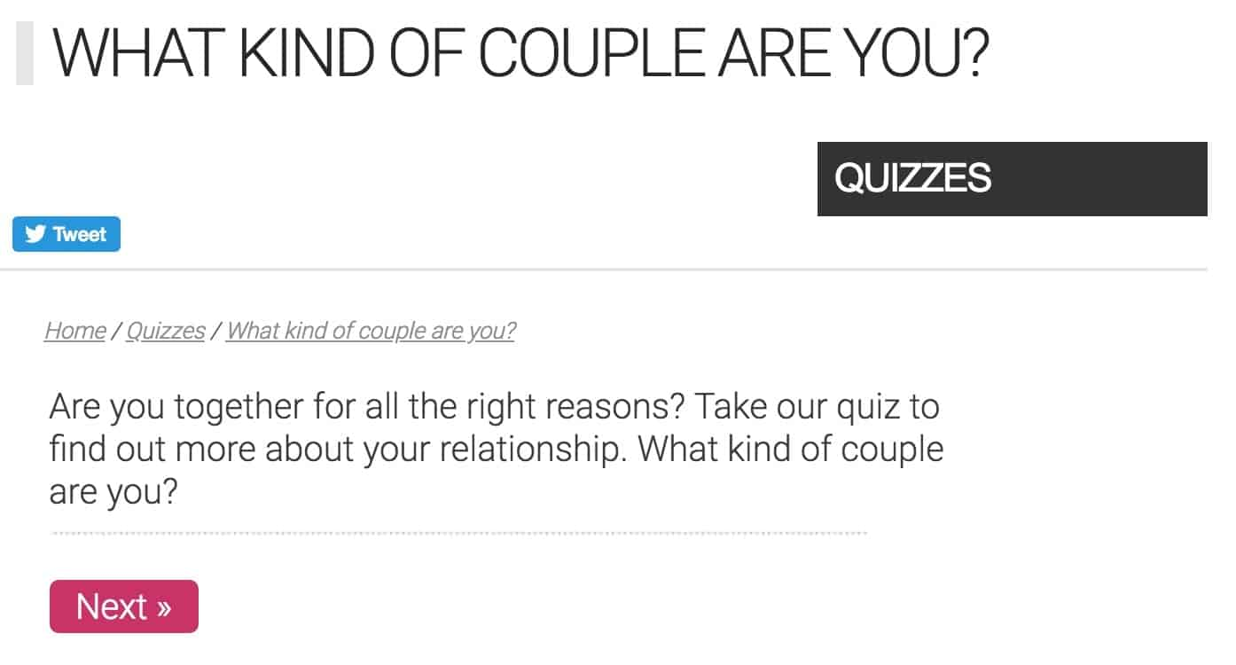 Quizzes for couples to take together