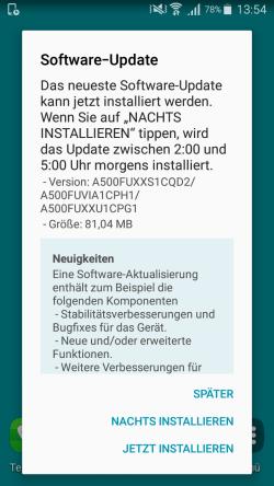 android update installieren