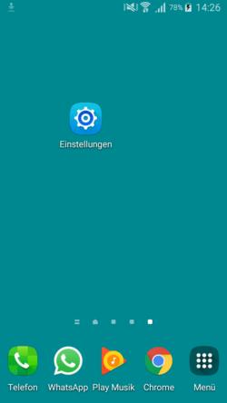 android startbildschirm einstellungen