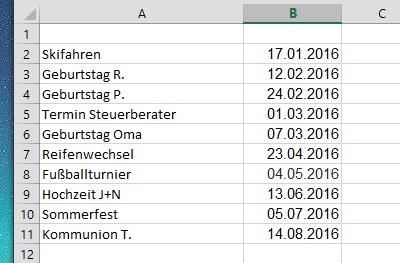 excel tabelle nach datum sortiert