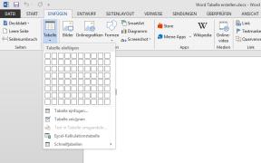 word tabelle erstellen