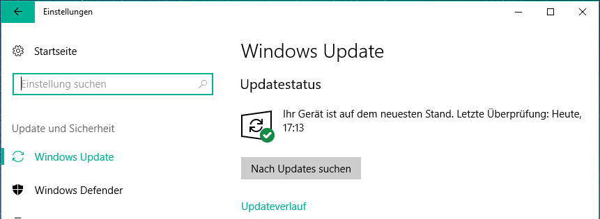 windows 10 nach updates suchen