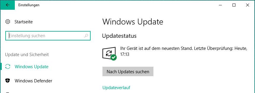 windows 10 nach updates suchen