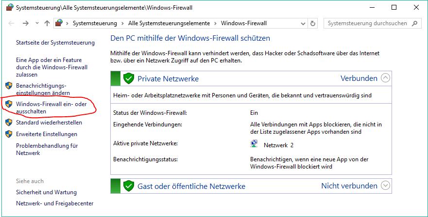windows 10 systemsteuerung firewall