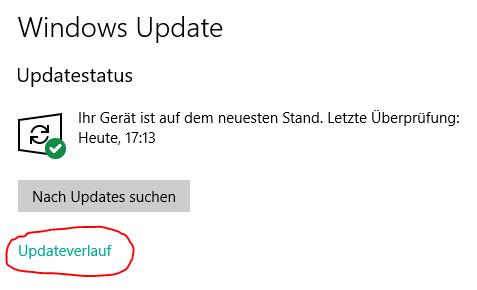 windows 10 update deinstallieren