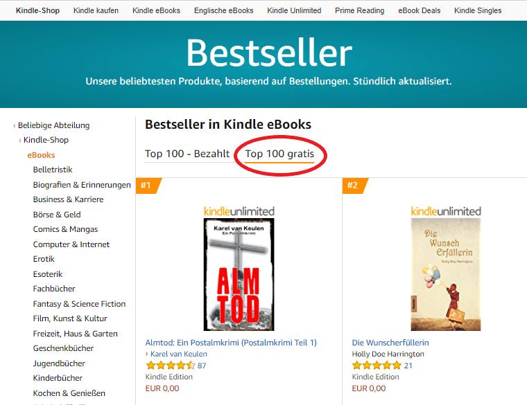 kindle bücher kostenlos bestseller