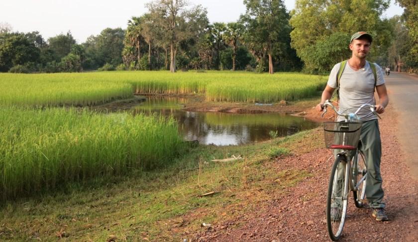Fahrradfahren auf Reisen in Kambodscha