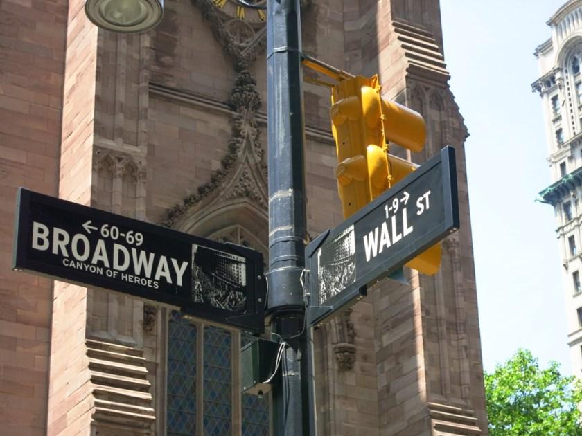 New York Broadway Wall Street