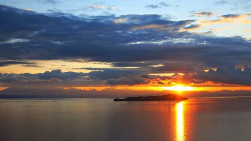 Bolivien Isla del Sol Sonnenaufgang