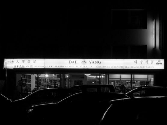 Klein Tokio bei Nacht.