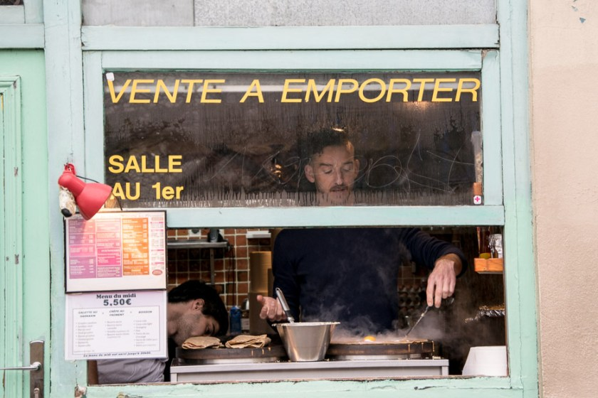 Rue Moufftard, Paris, Crepes
