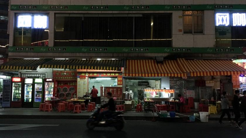 shenzhen china suppenküche streetfood nachtmarkt