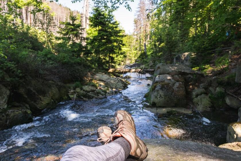 Heinrich Heine Weg Ilsefälle Brocken Harz Fluss