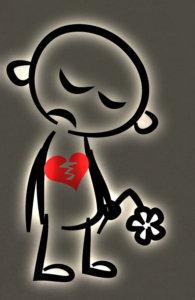 Sad heartbroken