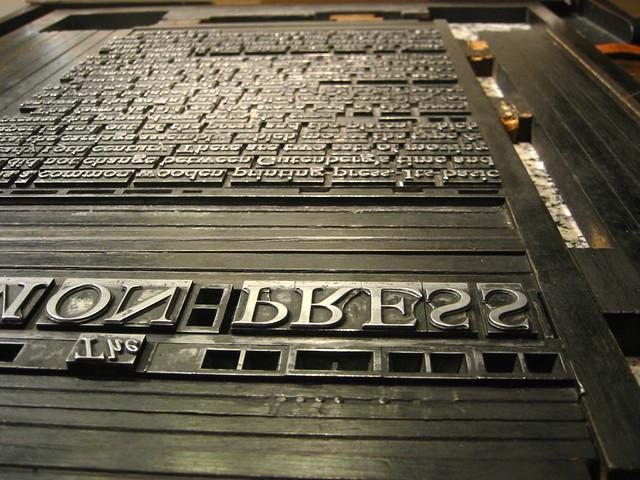 Steel type typeset
