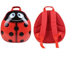 Ladybird Backpack-travel-luggage-cute-trolley-front & back