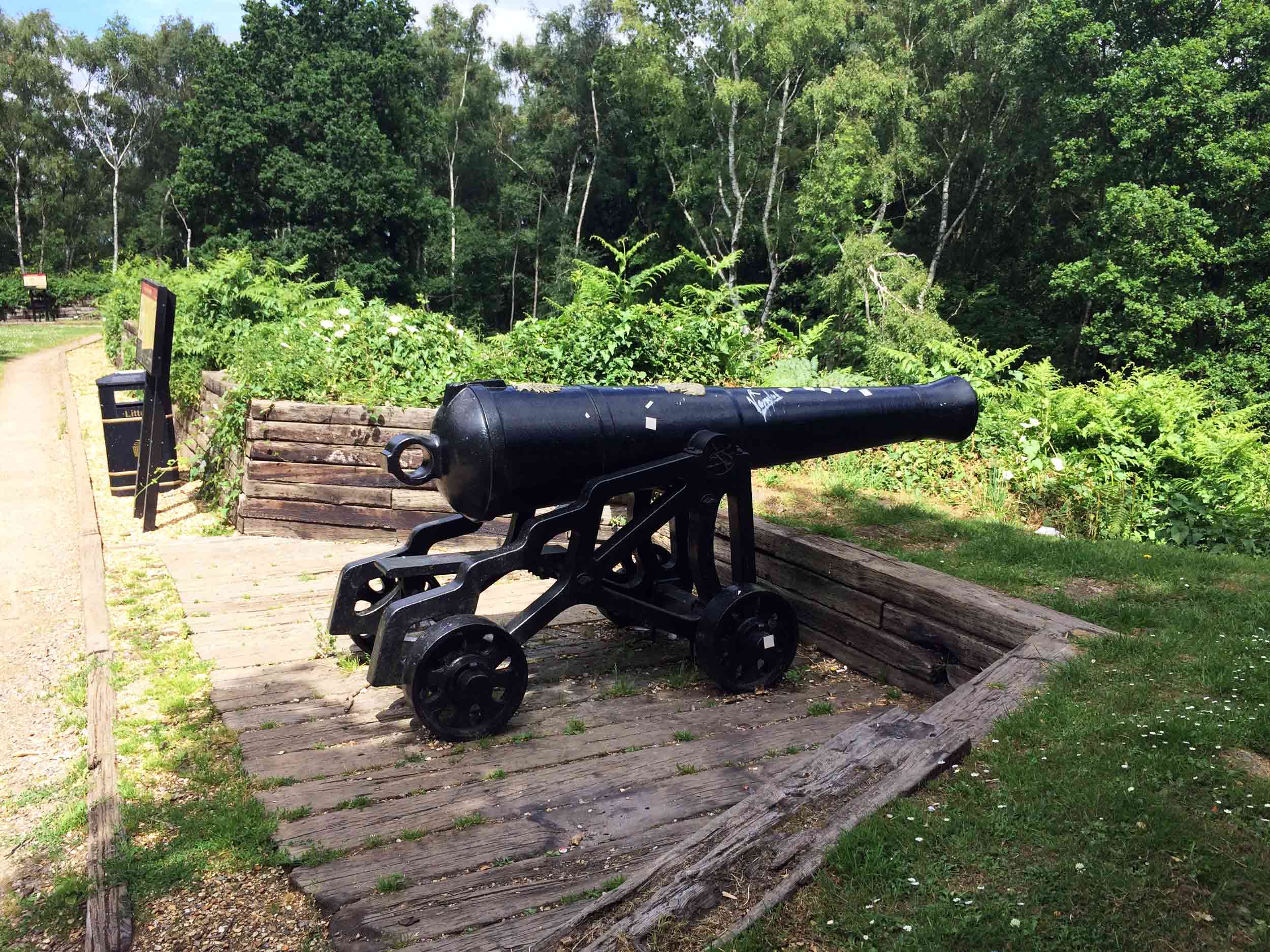 Canon at the Redan Hill Fortifications, Aldershot, Hampshire