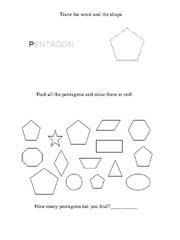 Free Pentagon Worksheet