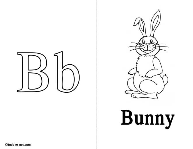 Free Printable Letter B Flashcard and Worksheet