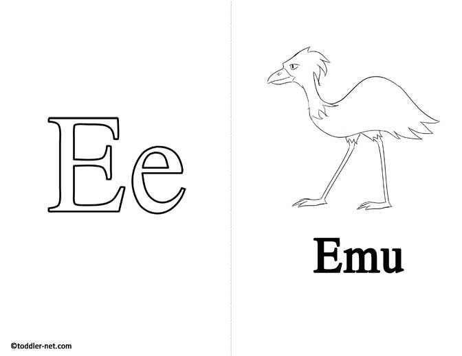 Free Printable Letter E Flashcard and Worksheet