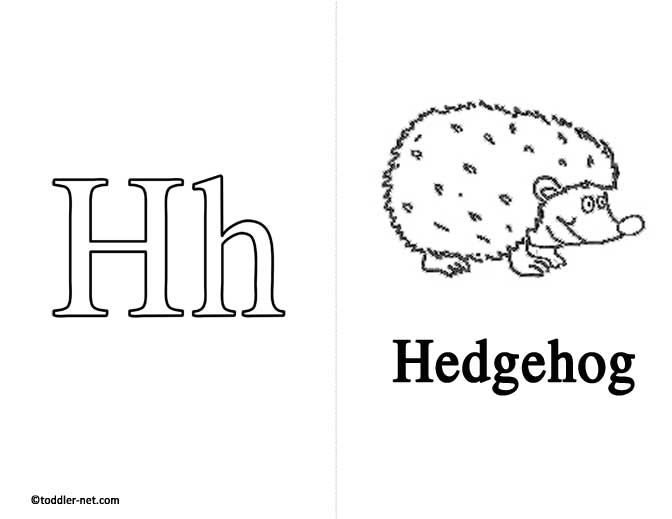 Free Printable Letter H Flashcard and Worksheet
