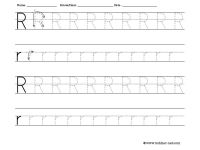 Free Tracing Letter R Worksheet