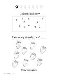 Free Number 9 Worksheet