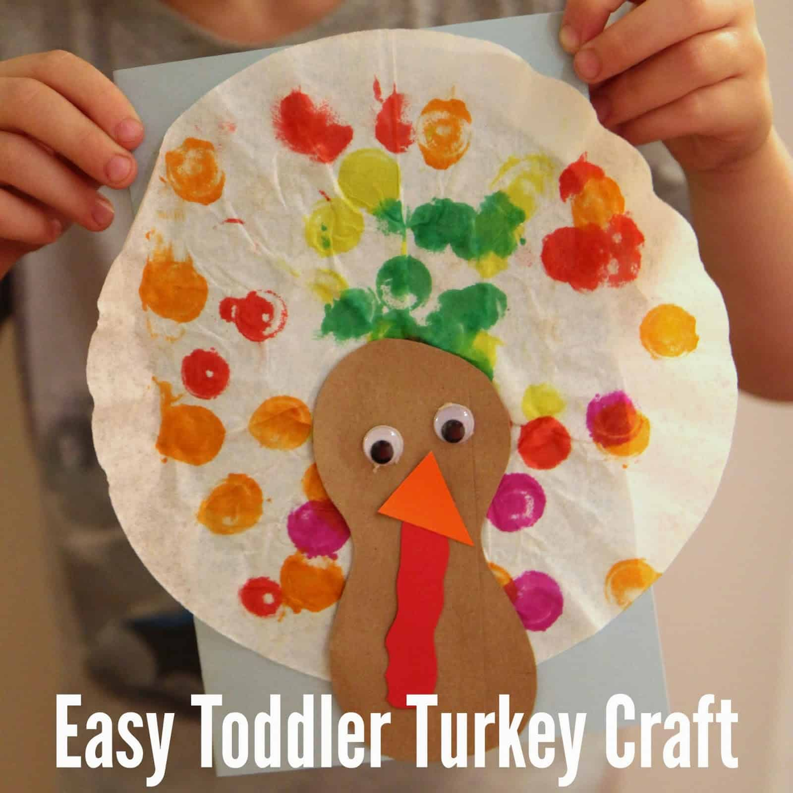 Easy Toddler Turkey Craft With Coffee Filters Toddler Approved