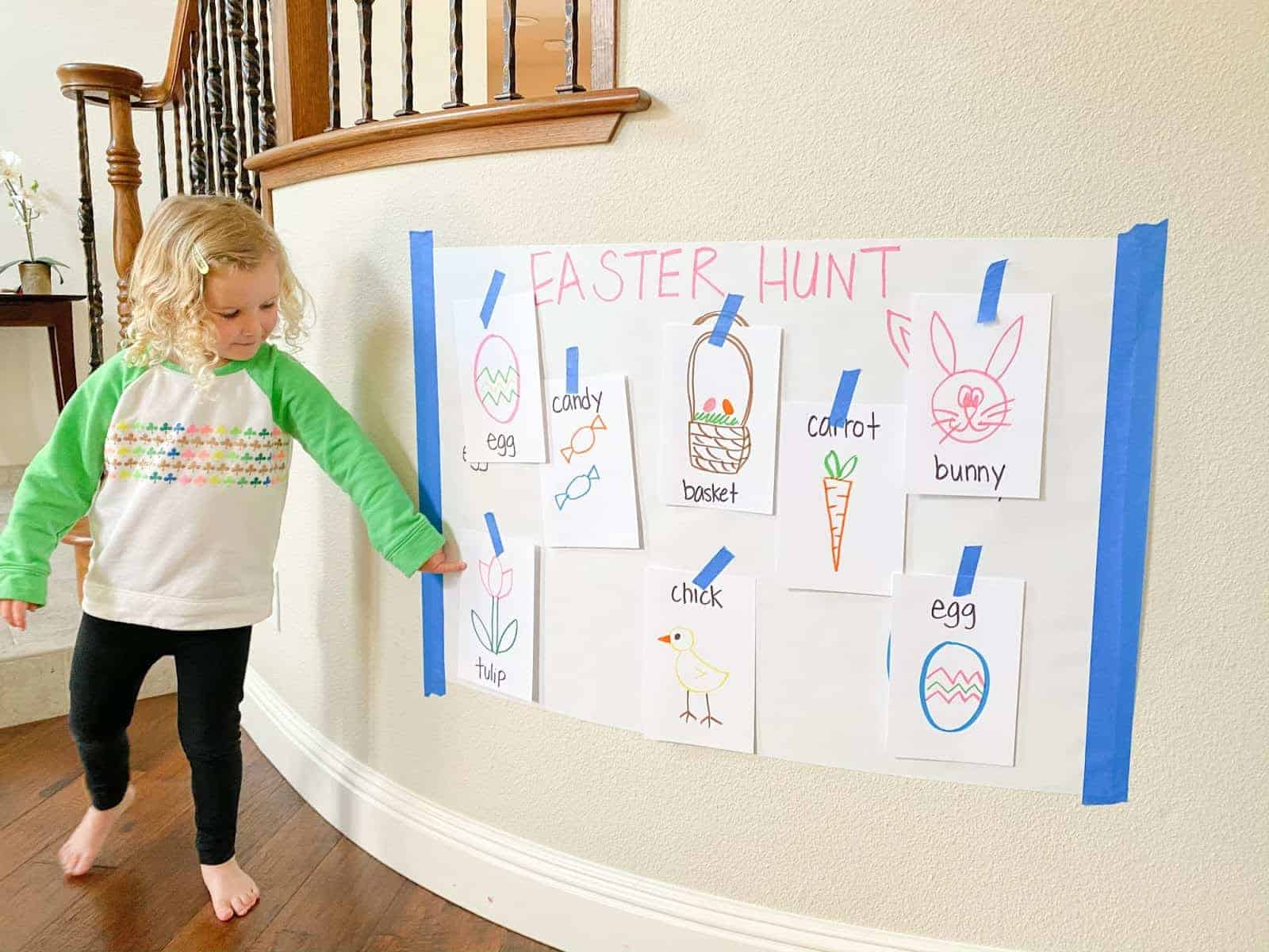 Easter Hunt Toddler Matching Activity