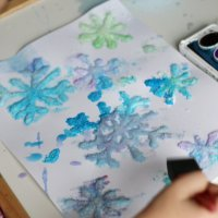 Salt Snowflakes Painting (Quick Video Tutorial)