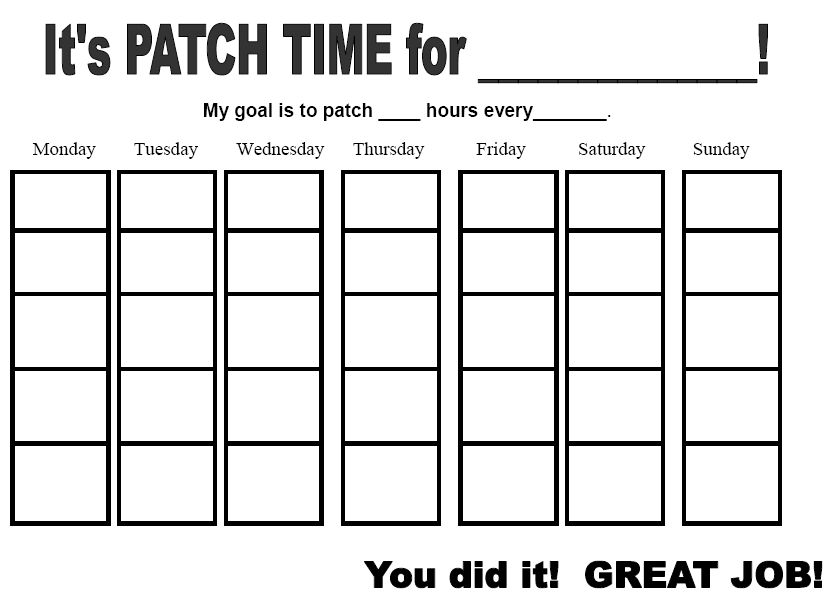 weekly patching chart