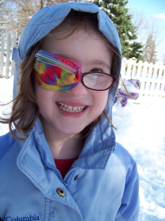 Spring snow, by Momerabilia.  Kate has amblyopia.