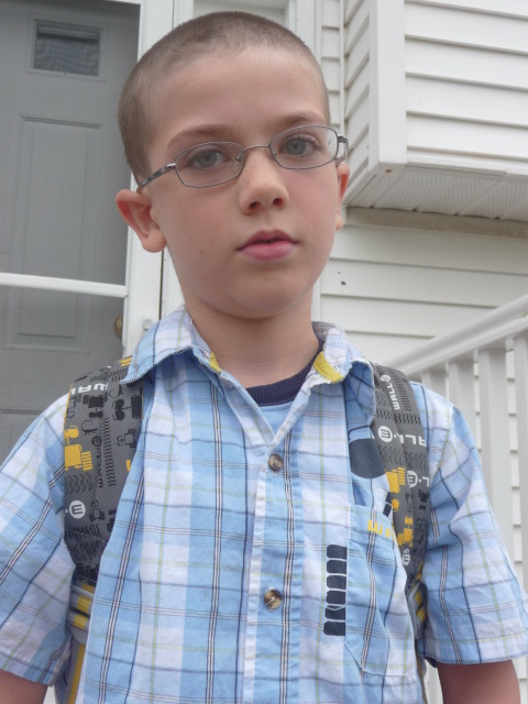 Alex on his first day of school.
