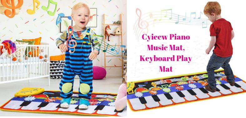 Cyiecw Piano Music Mat, Keyboard Play Mat