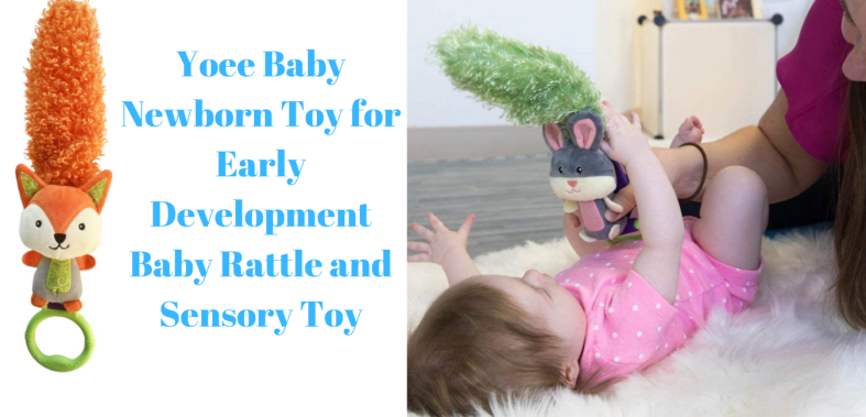 Yoee Baby Newborn Toy for Early Development Baby Rattle and Sensory Toy