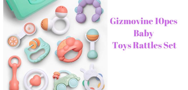Gizmovine 10pcs Baby Toys Rattles Set