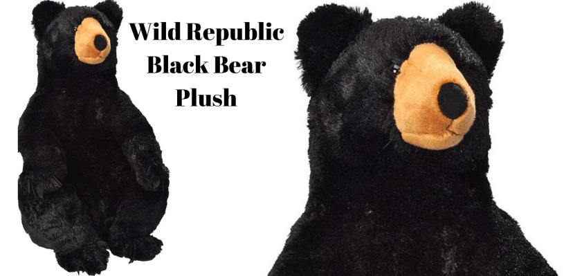 Wild Republic Black Bear Plush