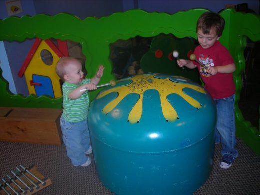 Children's Museum in Oak Lawn - drum - Toddling Around Chicagoland