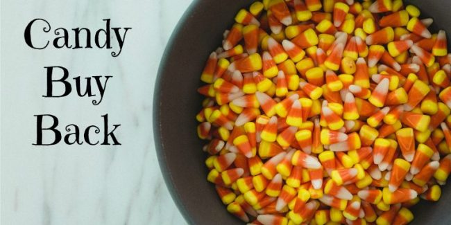 Candy corn in a bowl - Halloween Candy Buy Back