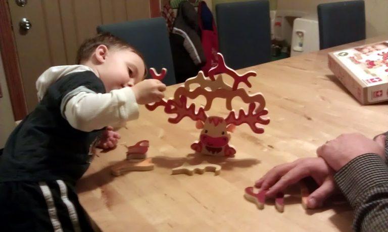 Hape Super Moose Toddler Bamboo Balancing Game