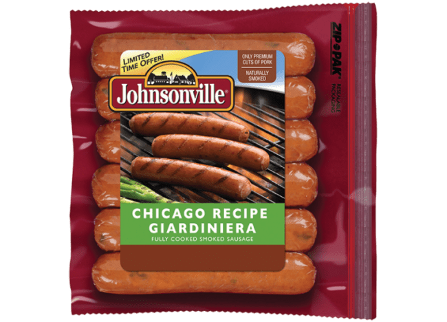 Johnsonville Chicago Recipe Giardiniera Sausages - Toddling Around Chicagoland