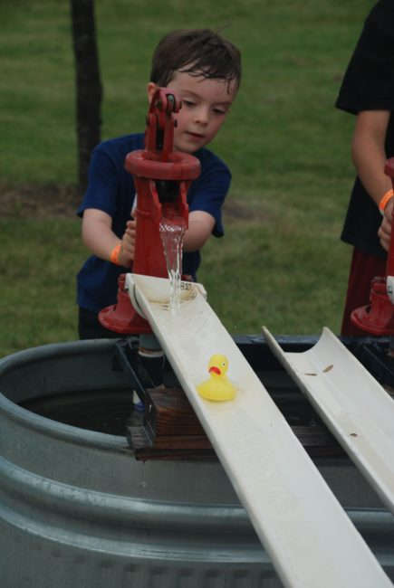 Duck races at the All Seasons Apple Orchard