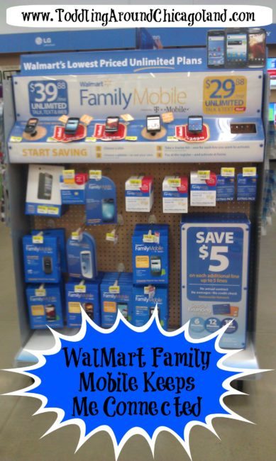 WalMart Family Mobile Keeps Me Connected #cbias #FamilyMobileSaves - Toddling Around Chicagoland #shop