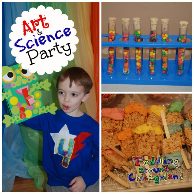 Art & Science Party collage banner