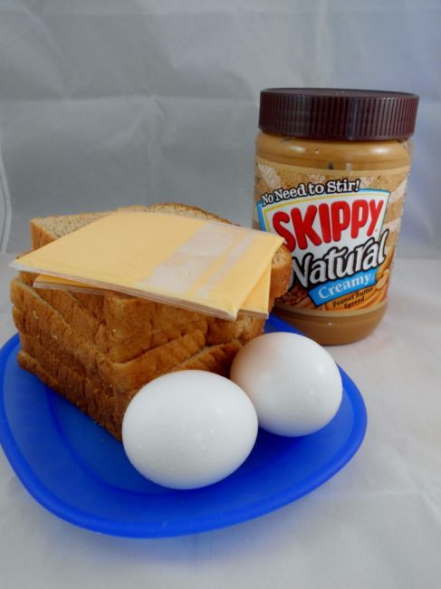 Peanut Butter, Cheese, & Egg Sandwich recipe - Toddling Around Chicagoland