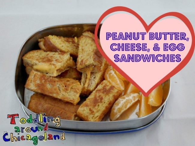 Peanut Butter, Cheese, & Egg Sandwiches - Toddling Around Chicagoland #comfortfood #lunch #bento #picnic #recipe