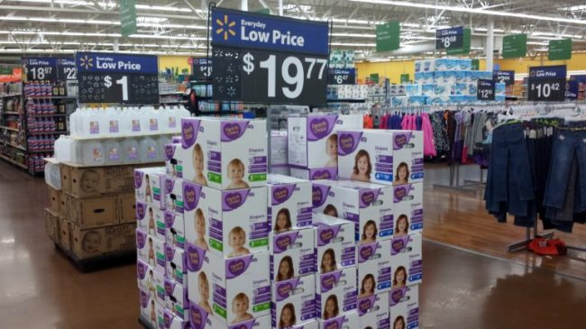 Parenting Made Affordable with Parent's Choice Diapers - Toddling Around Chicagoland - diaper display #BabyDiapersSavings #CollectiveBias #shop