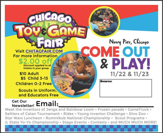 Chicago Toy & Game Fair 2014 Giveaway